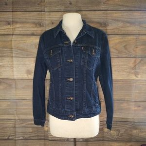 Levi's | Denim Dark Wash Women's Jacket Large